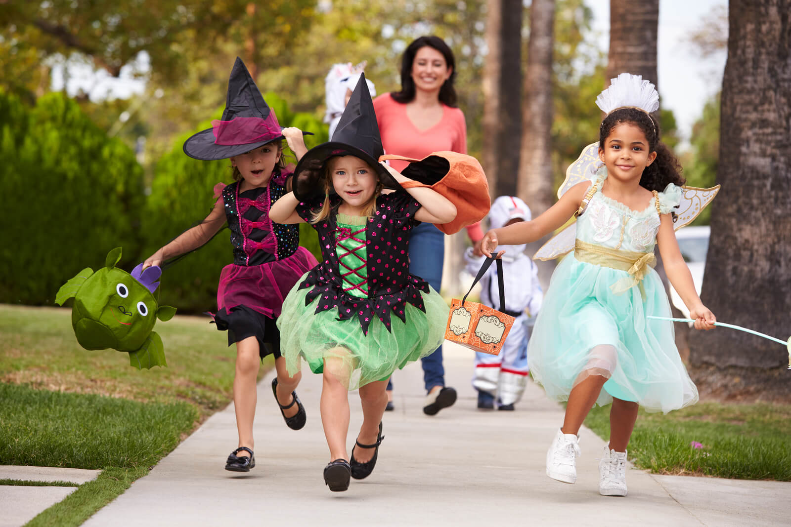 Kids Enjoying the Fun of Halloween Together